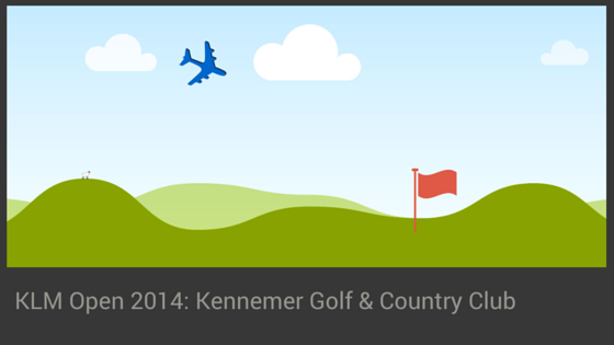 KLM Open 2014 op Kennemer Golf & Country Club