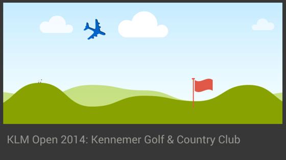KLM Open 2014 op Kennemer Golf & Country Club