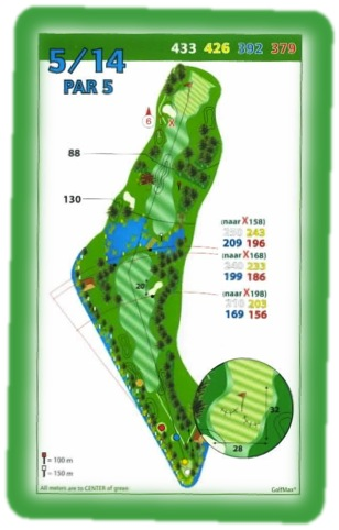 Golf course management Par5-hole